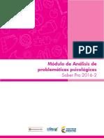 Guia de Orientacion Modulo de Analisis de Problematicas Psicologicas Saber Pro 2016 2