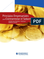 Principios Empresariales Para Contrarrestar El Soborno de Transparencia Internacional Para PYME