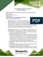 Politica Tratamiento Datos Personales Siempre Colombia