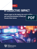 Report on racial profiling, discrimination by Toronto police toward the black community