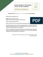 FC-004 Aclaración Sobre El Programa Oficial de San Lorenzo