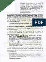 Este es el documento detallado de la suspensión a ley del recorte salarial