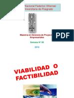 Semana N° 09-Factibilidad y Viabilidad-M-Gerencia P.E.-2018