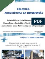 PALESTRA ARQUITETURA DA INFORMAÇÃO