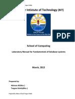 Fundamental of DB Lab Manual