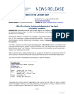 Dec. 07 19-193 MD 15829 SBA Offers Disaster Assistance News Release