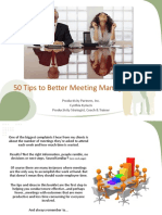 50 Tips to Better Meeting Management