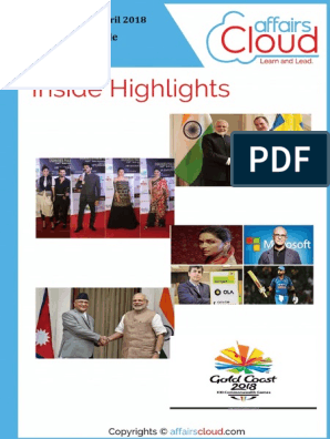 Current Affairs Study PDF - April 2018 by AffairsCloud pdf