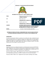 Informe de Riesgos Cusco Imperila Ltda