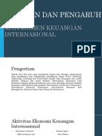 Peranan Manajemen Keungan Internasional
