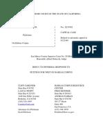 Scott Peterson Reply Habeas Corpus Brief 8-7-18