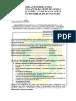 Distrito Do Kwanza Norte Relatório