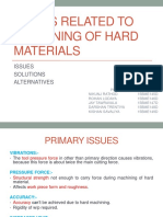 Issues Related to Machining of Hard Materials