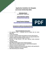 2015 SHU Application Guidelines for Shanghai Government Sholarship SGS (1)