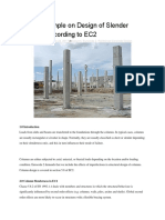 Solved Example on Design of Slender Columns According to EC2