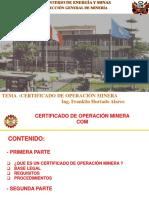 74618835-Certificado-de-Operaciones-Mineras (1).pps