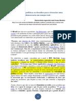 BENTES, Ivana - Velocidade e política - os desafios para vivenciar uma democracia em tempo real (entrevista IHU).pdf