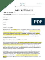 BUCCI, Eugenio - Pós-Verdade Pós-política Pós-imprensa (FOLHA) (L)