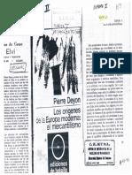 Pierre Deyon- Los origenes de la Europa Moderna