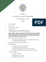 Town council meeting agenda_12112018