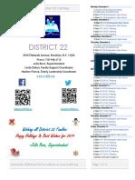 District 22 Newsletter December 2018