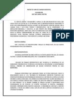 Proyecto Coro de Camara Municipal Nezahualcoyotl