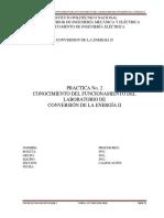 Practica 002 conversión de la enerigía II ESIME-Z