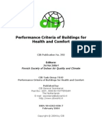 Performance Criteria of Buildings for Health and Comfort