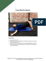 Foam Roll Pec Stretch