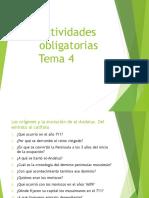 Actividades obligatorias Tema 4