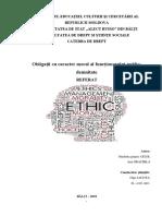 Obligații Cu Carater Moral - Al Funcționarului Public - Demnitate