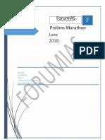 Prelims Marathon June, 2018
