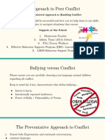 school based approach to peer conflict- nov