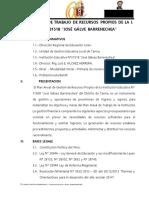 Plan Recur Propios Iepnc 2015