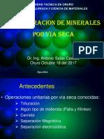 Concentracion de Minerales Por via Seca