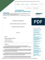 """""""Análisis de Elementos Que Impactan El Comportamiento"""" Comportamiento Organizacional (Semana 2) - Tareas"""