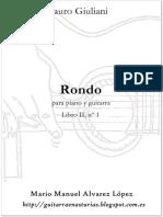 Giuliani M. Rondo Nº 5 Pn.-guit