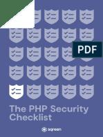 Php Security Checklist