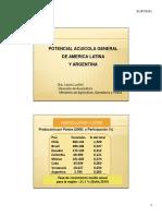 POTENCIAL ACUÍCOLA GENERAL DE AMERICA LATINA Y ARGENTINA
