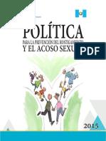 3.- Política Para La Prevención Del Hostigamiento