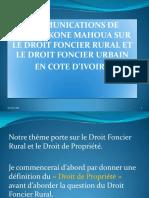 Foncier Rural Me Kone Mahoua