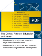 Human Capital Education and Health in Development Economics