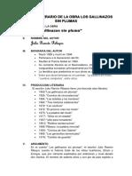 Análisis Literario de La Obra Los Gallinazos Sin Plumas Cleison