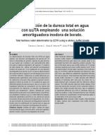 Determinación de La Dureza Total en Agua Con EDTA