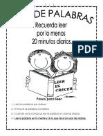 Cuadernillo Lista de Palabras Para Aprender a Leer