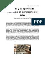 El Dólar y Su Incremento a Nivel País