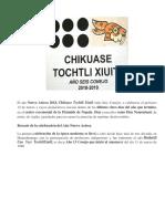 2018 Año Nuevo. Seis Conejo - Chikuase Tochtli Xiuitl