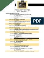 CCGF Day 1 Program of Activities