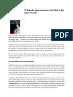 Menangkap Inti 29 Rahasia Kepemimpinan Jack Welch Dan Kesamaannya Dengan Musash1