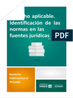 Derecho Aplicable. Identificación de Las Normas en Las Fuentes Jurídicas